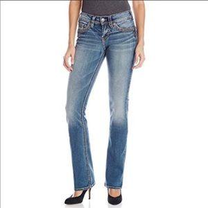 Silver Suki Mid Slim Boot Jeans Size 30